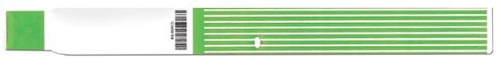Brazalete térmico ScanBand® 7144 con código de barras